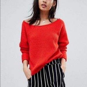 Sweaters - Boat Neck Knit Sweater